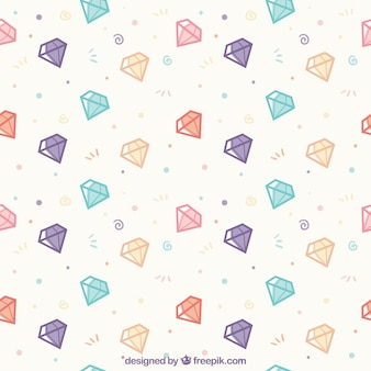 Flat patroon met gekleurde diamanten