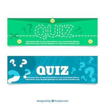 Flat quiz banners