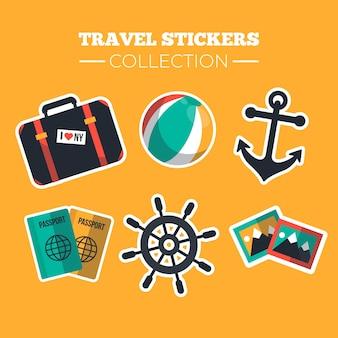 Flat reizen stickers collectie