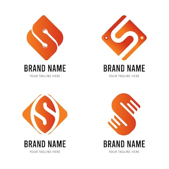 Flat s logo templates-collectie
