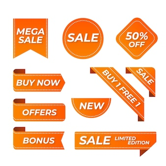Flat sale labelcollectie