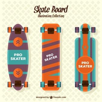 Flat skateboards