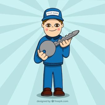Flat slotenmaker karakter