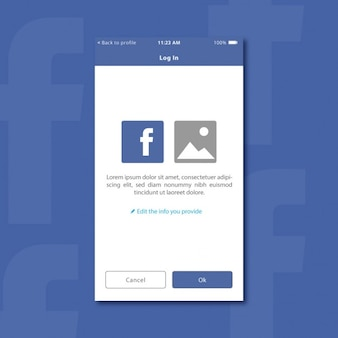 Flat social media ui design