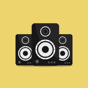Flat sound speaker
