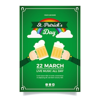 Flat st. patrick's day sjabloon folder