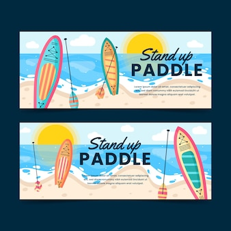 Flat sup banners pakket