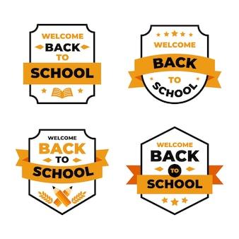 Flat terug naar school etiketten collectie