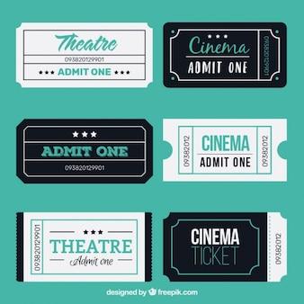 Flat threatre en bioscoopkaartjes