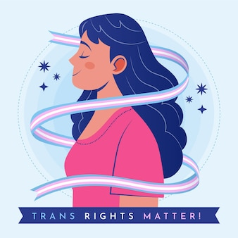 Flat transgender persoon geïllustreerd