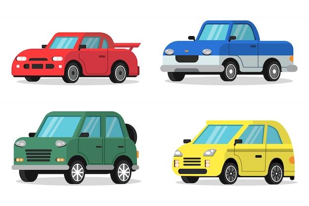 Flat van auto's in orthogonale projectie