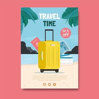 Flat van reizen flyer