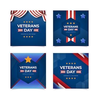 Flat veteranendag instagram posts collectie