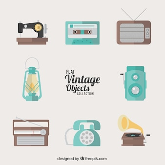 Flat vintage collectie object