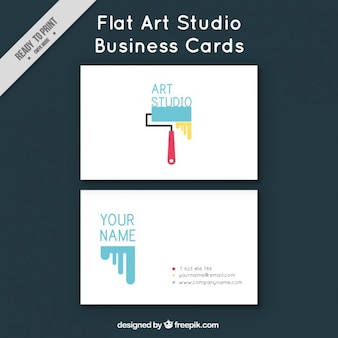 Flat visitekaartje voor atelier