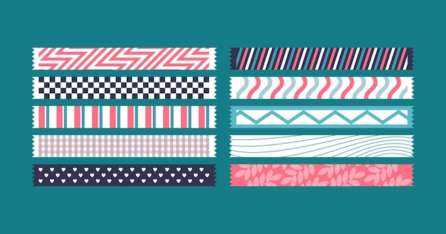 Flat washi tape collectie