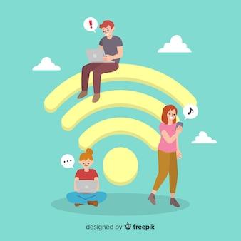 Flat wifi-concept