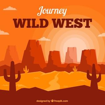 Flat wild west background