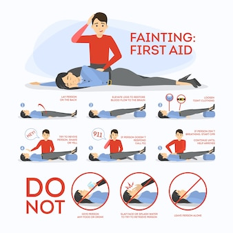 Flauwvallen bij eerste hulp. wat te doen in noodsituaties