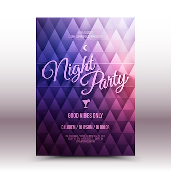 Flayer-ontwerpsjabloon night party