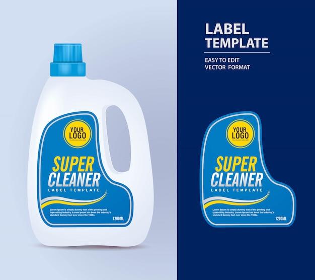 Fles etiket, pakket sjabloon, mock-up labelsjabloon