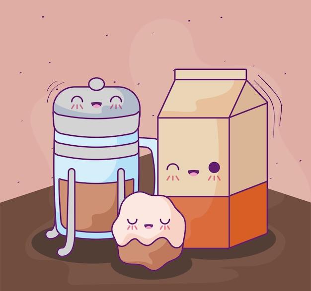 Fles koffie met heerlijke kawaiistijl