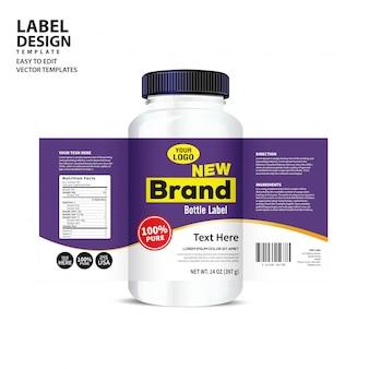 Fles label
