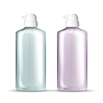 Fles met pomp voor hygiënische handen gel