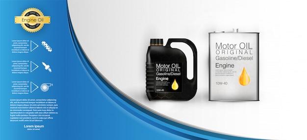 Fles motorolie bus motorolie, volledige bescherming van synthetische moleculen.
