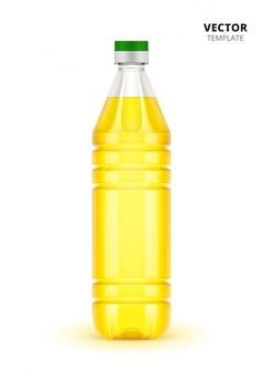 Fles plantaardige olie geïsoleerd