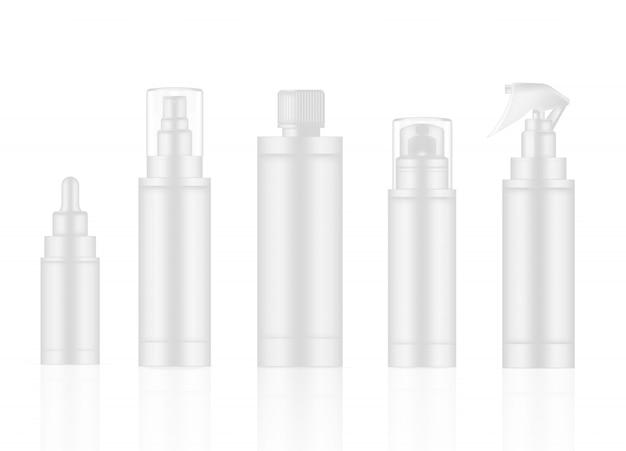 Fles white realistische huidverzorgingsproductspray