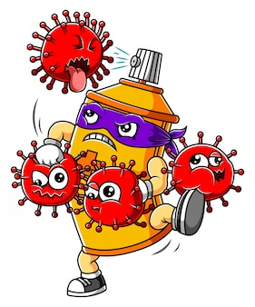 Flessenspuit handdesinfecterend middel strijd coronavirus