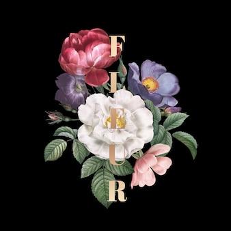 Fleur bloemen badge