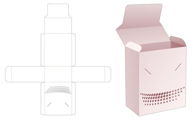 Flip box en vergrendelde punt met gestencilde halftoonstippen gestanst sjabloon