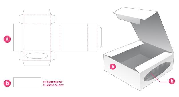 Flip box met ellipsvenster gestanst sjabloon