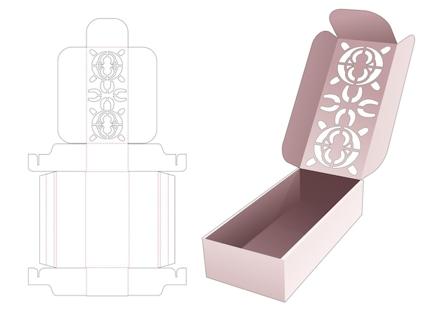 Flip box met gestencilde mandala bovenop gestanste sjabloon