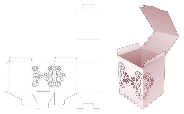 Flip box met gestencilde mandala gestanste sjabloon