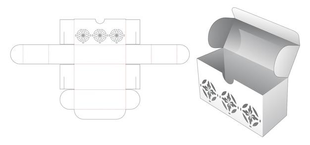 Flip box met luxe stencil gestanst sjabloon