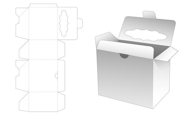 Flip box vergrendeld punt met gestanst sjabloon bovenaan venster