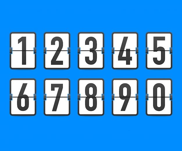 Flip countdown klok teller timer.