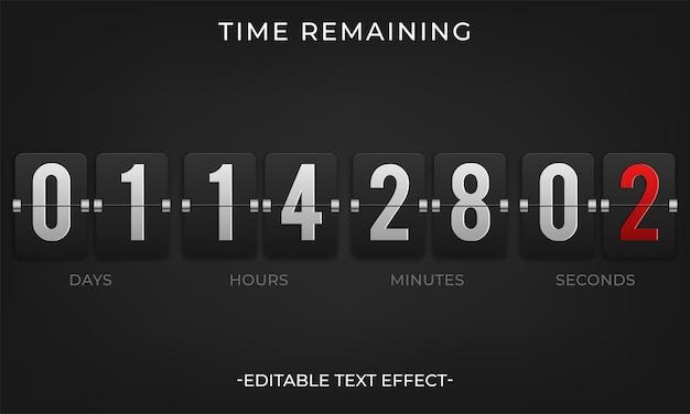 Flip countdown klok teller timer