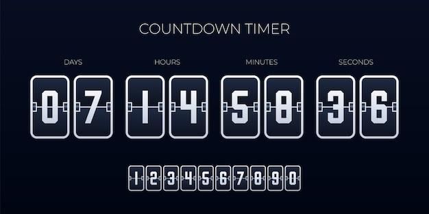 Flip countdown timer sjabloon