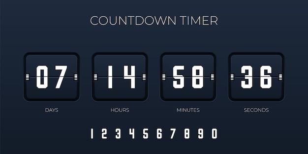 Flip countdown timer template voor website en applicatie