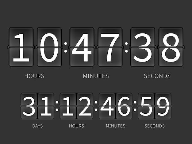 Flip countdown timer