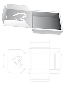 Flip doos met hartvormig venster gestanst sjabloon