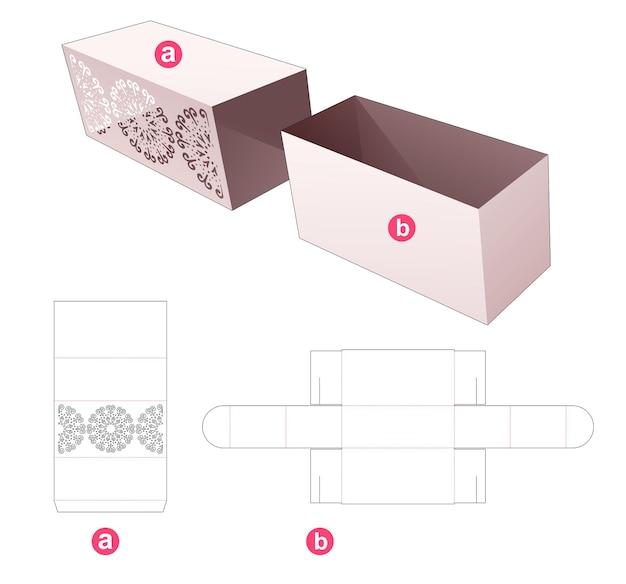 Flip doos met omslag met gestencilde mandala gestanste sjabloon