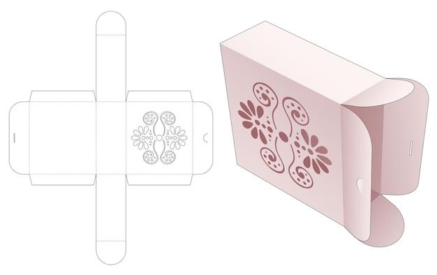 Flip en lock box met gestencilde mandala gestanste sjabloon