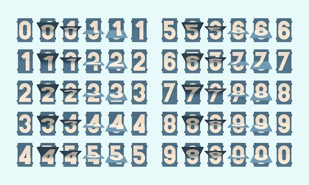 Flip nummers illustratie