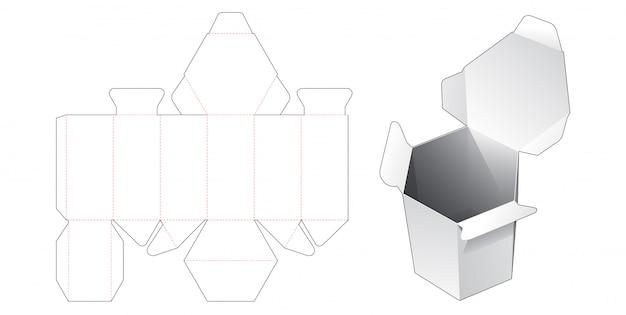 Flip-top hexagonale verpakkingsdoos gestanste sjabloon