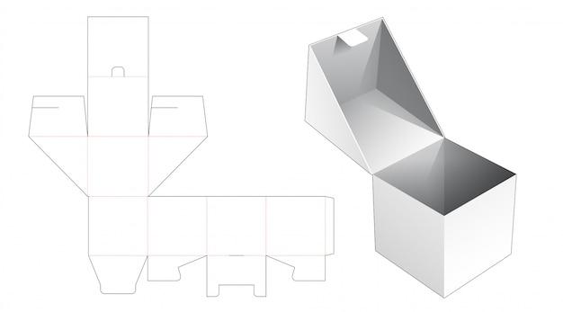 Flip vierkante verpakking gestanste sjabloon